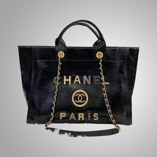 Chanel-Deauville-Black-Leather-Tote-Bag
