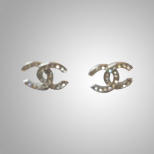 Chanel-Silver-Classic-Earings